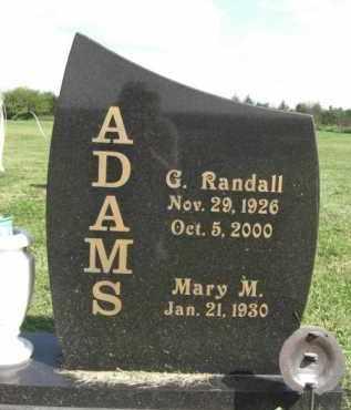 ADAMS, G. RANDALL - Boone County, Nebraska | G. RANDALL ADAMS - Nebraska Gravestone Photos