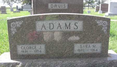 ADAMS, SARA M. - Boone County, Nebraska | SARA M. ADAMS - Nebraska Gravestone Photos