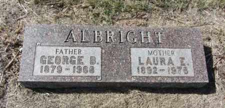 ALBRIGHT, LAURA E. - Boone County, Nebraska | LAURA E. ALBRIGHT - Nebraska Gravestone Photos