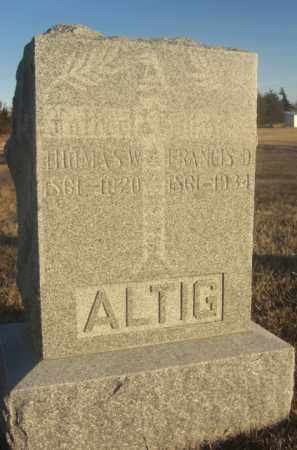 ALTIG, THOMAS W. - Boone County, Nebraska | THOMAS W. ALTIG - Nebraska Gravestone Photos