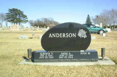 ANDERSON, DANA - Boone County, Nebraska | DANA ANDERSON - Nebraska Gravestone Photos