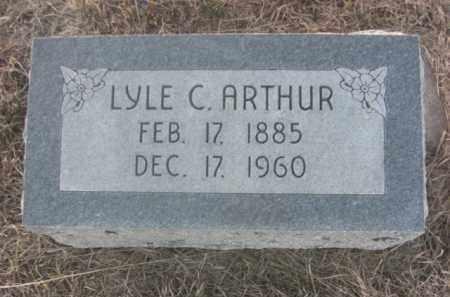 ARTHUR, LYLE C. - Boone County, Nebraska | LYLE C. ARTHUR - Nebraska Gravestone Photos