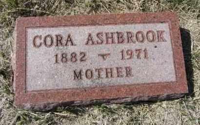ASHBROOK, CORA - Boone County, Nebraska   CORA ASHBROOK - Nebraska Gravestone Photos
