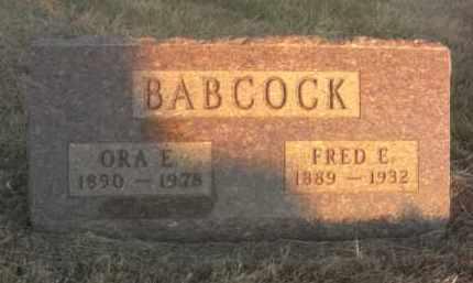 BABCOCK, ORA E. - Boone County, Nebraska | ORA E. BABCOCK - Nebraska Gravestone Photos