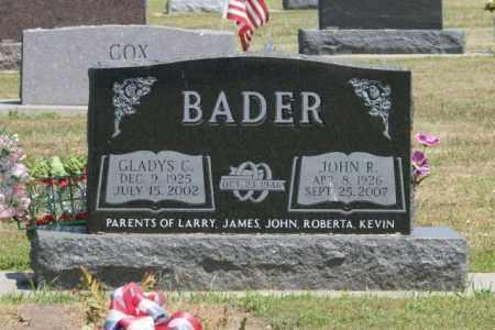BADER, GLADYS C. - Boone County, Nebraska | GLADYS C. BADER - Nebraska Gravestone Photos