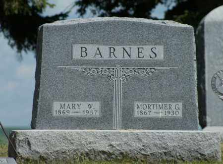 BARNES, MARY W. - Boone County, Nebraska | MARY W. BARNES - Nebraska Gravestone Photos