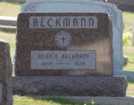 BECKMANN, HELEN E. - Boone County, Nebraska   HELEN E. BECKMANN - Nebraska Gravestone Photos