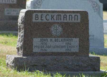 BECKMANN, JOHN H. - Boone County, Nebraska | JOHN H. BECKMANN - Nebraska Gravestone Photos