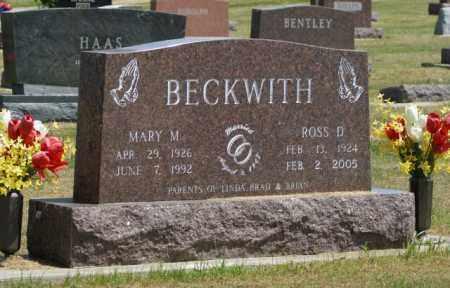 BECKWITH, ROSS D. - Boone County, Nebraska | ROSS D. BECKWITH - Nebraska Gravestone Photos