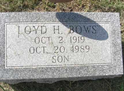 "BODEN, LOYD H. ""BOWS"" - Boone County, Nebraska | LOYD H. ""BOWS"" BODEN - Nebraska Gravestone Photos"