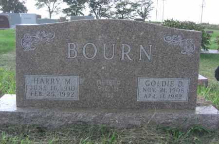 BOURN, HARRY MERLE - Boone County, Nebraska | HARRY MERLE BOURN - Nebraska Gravestone Photos