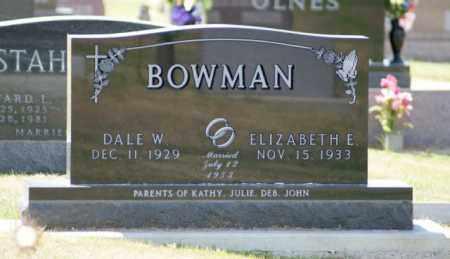 BOWMAN, DALE W. - Boone County, Nebraska   DALE W. BOWMAN - Nebraska Gravestone Photos