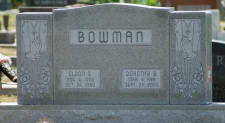 BOWMAN, ELDON E. - Boone County, Nebraska | ELDON E. BOWMAN - Nebraska Gravestone Photos