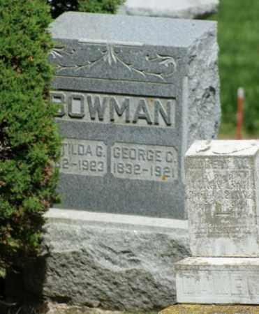 BOWMAN, MATILDA G. - Boone County, Nebraska | MATILDA G. BOWMAN - Nebraska Gravestone Photos