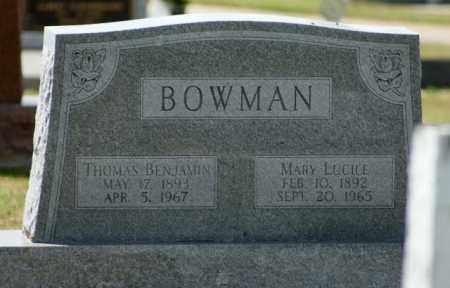BOWMAN, THOMAS BENJAMIN - Boone County, Nebraska | THOMAS BENJAMIN BOWMAN - Nebraska Gravestone Photos