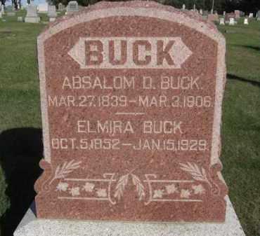 CROSIER BUCK, ELMIRA - Boone County, Nebraska | ELMIRA CROSIER BUCK - Nebraska Gravestone Photos