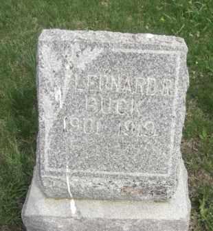 BUCK, LEONARD R. - Boone County, Nebraska | LEONARD R. BUCK - Nebraska Gravestone Photos
