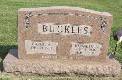 BUCKLES, KENNETH L. - Boone County, Nebraska | KENNETH L. BUCKLES - Nebraska Gravestone Photos