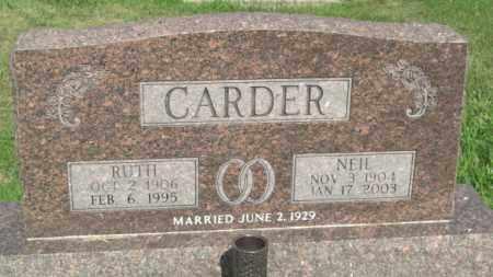 CARDER, RUTH ELLA - Boone County, Nebraska | RUTH ELLA CARDER - Nebraska Gravestone Photos
