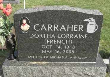 CARRAHER, DORTHA LORRAINE - Boone County, Nebraska   DORTHA LORRAINE CARRAHER - Nebraska Gravestone Photos