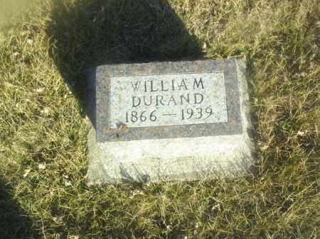 DURAND, WILLIAM - Boone County, Nebraska | WILLIAM DURAND - Nebraska Gravestone Photos