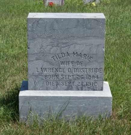 DUSTRUDE, TILDA MARIE - Boone County, Nebraska | TILDA MARIE DUSTRUDE - Nebraska Gravestone Photos