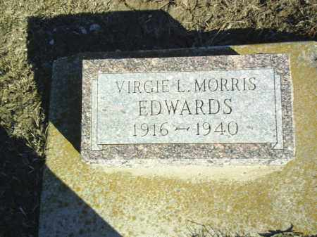 EDWARDS, VIRGIE - Boone County, Nebraska   VIRGIE EDWARDS - Nebraska Gravestone Photos