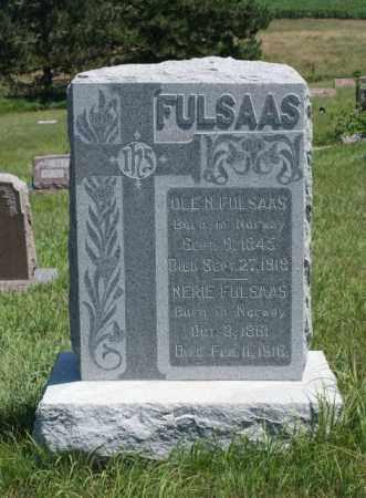 FULSAAS, NERIE - Boone County, Nebraska | NERIE FULSAAS - Nebraska Gravestone Photos