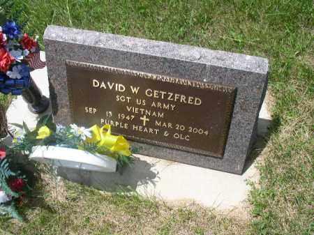 GETZFRED, DAVID W. - Boone County, Nebraska   DAVID W. GETZFRED - Nebraska Gravestone Photos