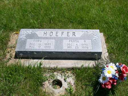HOEFER, MARY JANE - Boone County, Nebraska | MARY JANE HOEFER - Nebraska Gravestone Photos