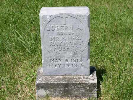 HOEFER, JOSEPH A. - Boone County, Nebraska | JOSEPH A. HOEFER - Nebraska Gravestone Photos