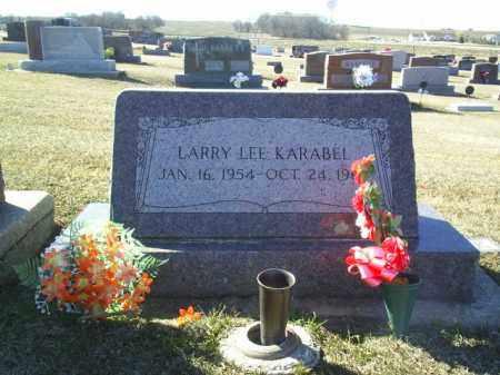 KARABEL, LARRY - Boone County, Nebraska | LARRY KARABEL - Nebraska Gravestone Photos