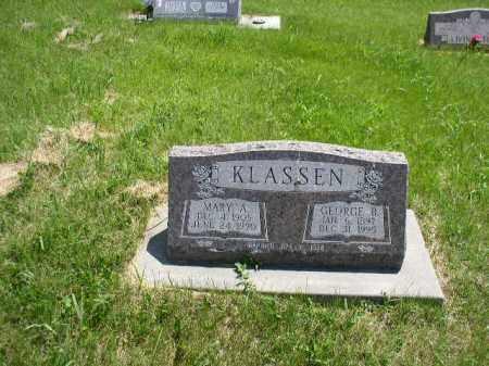 KLASSEN, MARY ELIZABETH ANN - Boone County, Nebraska | MARY ELIZABETH ANN KLASSEN - Nebraska Gravestone Photos