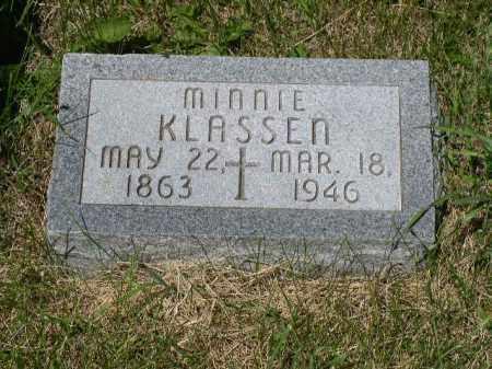 KLASSEN, MINNIE - Boone County, Nebraska | MINNIE KLASSEN - Nebraska Gravestone Photos