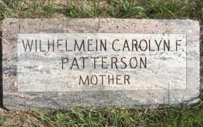 CASPER PATTERSON, WILHELMEIN CAROLYN F. - Boone County, Nebraska   WILHELMEIN CAROLYN F. CASPER PATTERSON - Nebraska Gravestone Photos