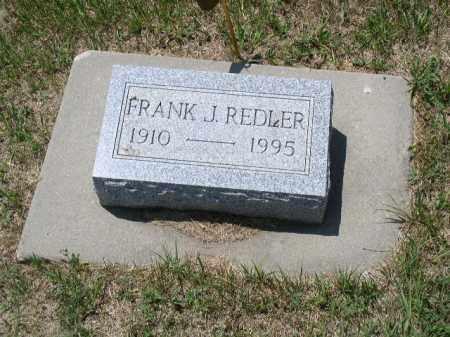 REDLER, FRANK J. - Boone County, Nebraska | FRANK J. REDLER - Nebraska Gravestone Photos