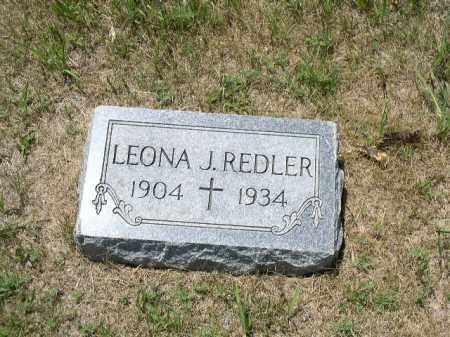REDLER, LEONA J. - Boone County, Nebraska | LEONA J. REDLER - Nebraska Gravestone Photos