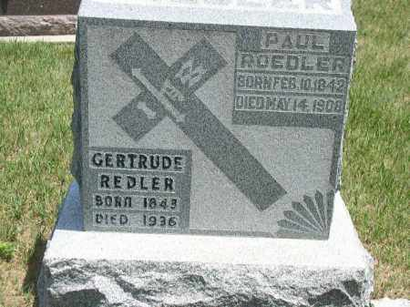REDLER, GERTRUDE - Boone County, Nebraska   GERTRUDE REDLER - Nebraska Gravestone Photos