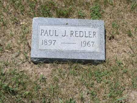 REDLER, PAUL J. - Boone County, Nebraska | PAUL J. REDLER - Nebraska Gravestone Photos