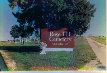 *ROSE HILL CEMETERY, SIGN - Boone County, Nebraska | SIGN *ROSE HILL CEMETERY - Nebraska Gravestone Photos