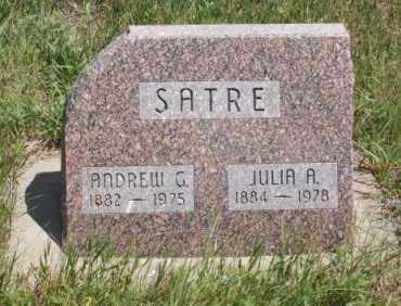 SATRE, JULIA A. - Boone County, Nebraska | JULIA A. SATRE - Nebraska Gravestone Photos