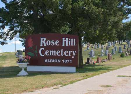 *ROSE HILL CEMETERY, SIGN FOR - Boone County, Nebraska | SIGN FOR *ROSE HILL CEMETERY - Nebraska Gravestone Photos