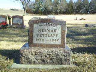 TETZLAFF, HERMAN - Boone County, Nebraska | HERMAN TETZLAFF - Nebraska Gravestone Photos
