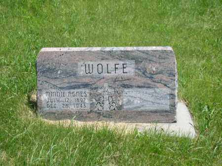 WOLFE, MINNIE AGNES - Boone County, Nebraska | MINNIE AGNES WOLFE - Nebraska Gravestone Photos