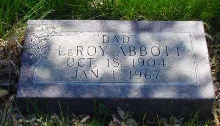 ABBOTT, LEROY - Box Butte County, Nebraska | LEROY ABBOTT - Nebraska Gravestone Photos