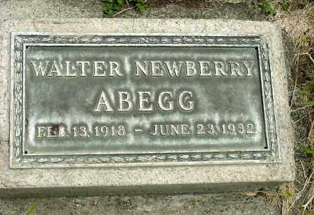ABEGG, WALTER NEWBERRY - Box Butte County, Nebraska | WALTER NEWBERRY ABEGG - Nebraska Gravestone Photos
