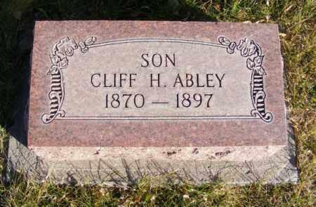 ABLEY, CLIFF H. - Box Butte County, Nebraska | CLIFF H. ABLEY - Nebraska Gravestone Photos