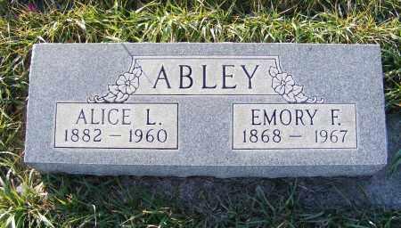 ABLEY, EMORY F. - Box Butte County, Nebraska | EMORY F. ABLEY - Nebraska Gravestone Photos