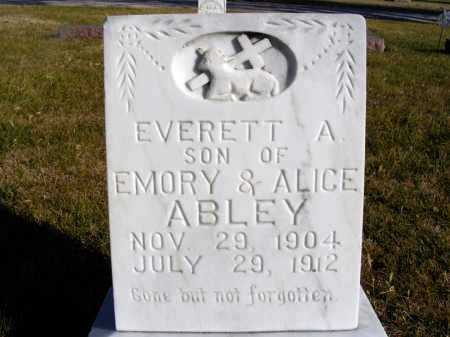 ABLEY, EVERETT A. - Box Butte County, Nebraska | EVERETT A. ABLEY - Nebraska Gravestone Photos