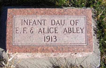 ABLEY, INFANT DAUGHTER - Box Butte County, Nebraska | INFANT DAUGHTER ABLEY - Nebraska Gravestone Photos